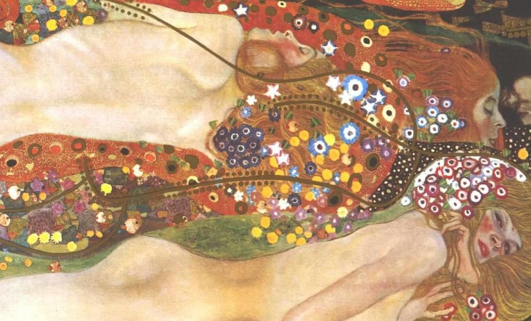 Wasserschlagen von Gustav Klimt