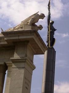 Soviet War Memorial, Schwarzenbergplatz, Red Army Soldiers