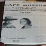 Peter Altenberg and Lina Loos adorn the frontpage of Cafe Museum's Cake for the Ball of the Coffeehouseowners