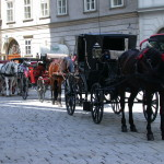 Fiaker, Horse drawn carriages, in Vienna