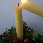 Lighting all candles with Light of Peace