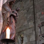 Candle in St. Stephan's Cathedral in Vienna