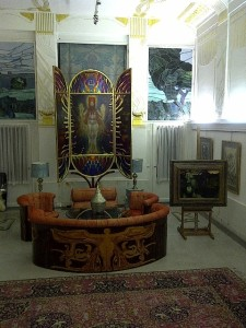 Ernst Fuchs Room in Villa with Paintings and Designs