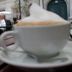 Melange in Kleines Cafe, Vienna, Franziskanerplatz