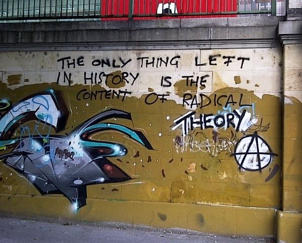 Radical Theory, graffiti, Donaukanal, Vienna, Austria, 2014