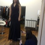 Gown fitting at seamstress in 2nd district