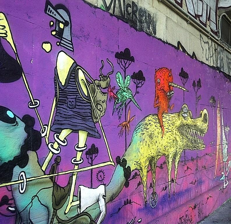 Purple Fantasy, graffiti, Donaukanal, Vienna, Austria, 2014