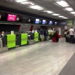 Blurry image of CAT check in at Wien Mitte