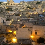 Matera, Italy, view over the Sassi