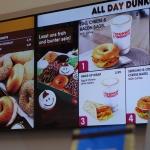 Dunkin Donuts menu