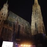 Stage at Stephansdom New Year's Eve