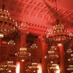 Chandeliers in Ballroom