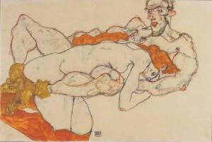 Egon Schiele - Lovers