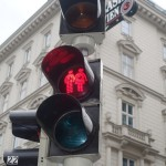 Vienna Red Ampel Guy and Girl