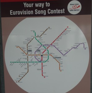 Vienna Subway Song Contest Map