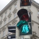 Green Ampelpaar near Opera in Vienna