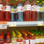 Flavored water at the grocery store