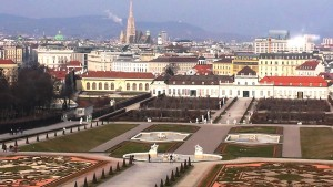 View of Vienna from Upper Belvedere