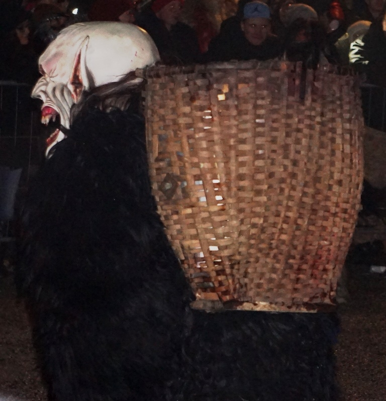 Krampus basket waiting to be filled