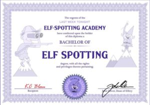 KC Blau Elf Spotting Certificate
