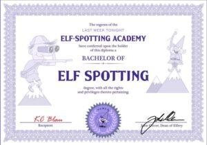 KC Blau Elf Spotting Certificate