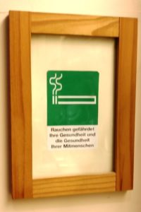 Sign for smoking section at Pfarrwirt